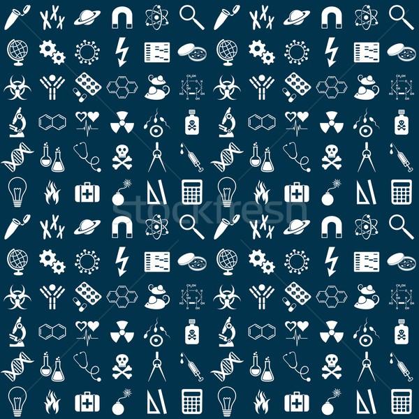 Science seamless pattern Stock photo © blumer1979