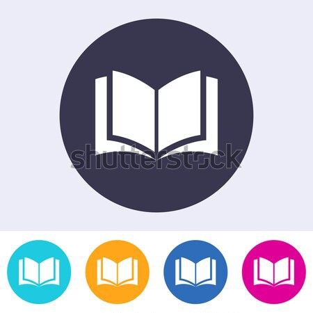 Vector open book icon colorful buttons Stock photo © blumer1979