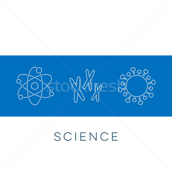 Vector science banner thin line icons Stock photo © blumer1979