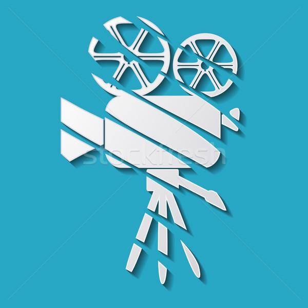 Movie camera icon Stock photo © blumer1979