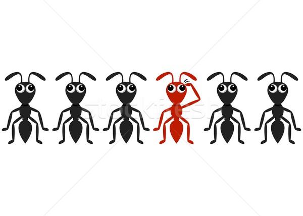 Ant cartoon characters Stock photo © blumer1979