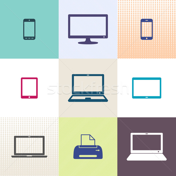 Stock photo: Vector digital device icons collection