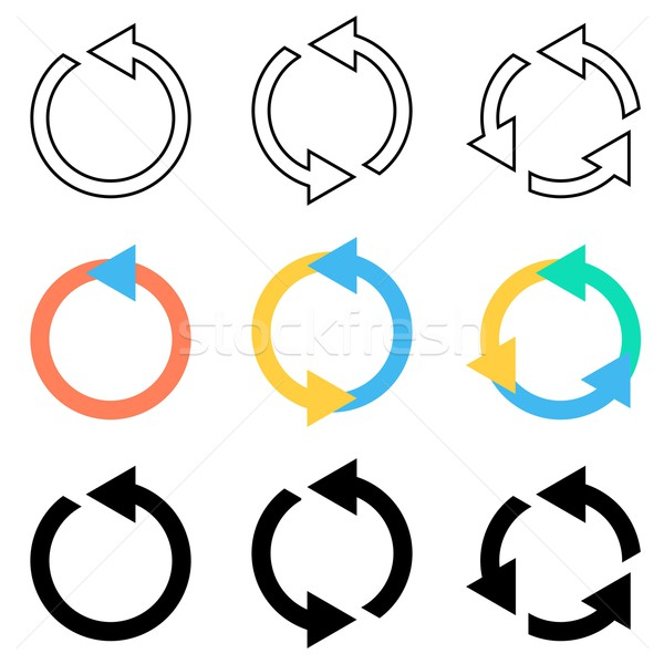 круга Стрелки вектора Recycle Сток-фото © blumer1979