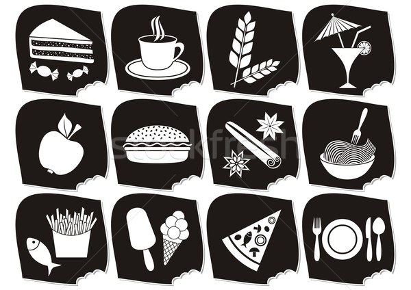 Food and drink icons Stock photo © blumer1979
