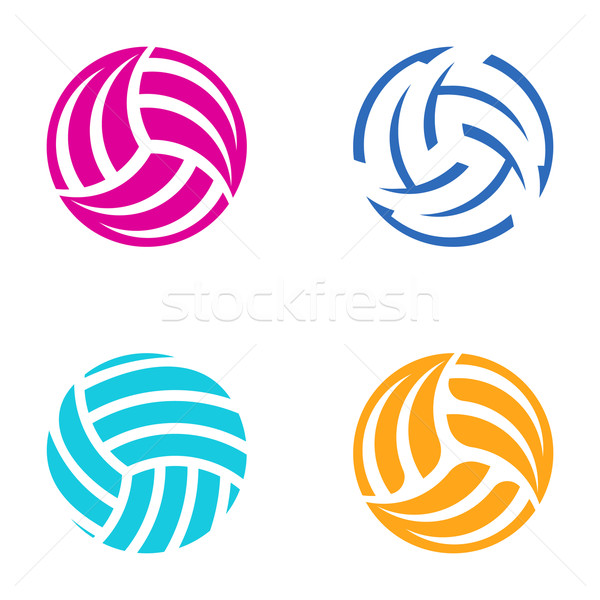 Kleurrijk vector volleybal bal abstract Stockfoto © blumer1979