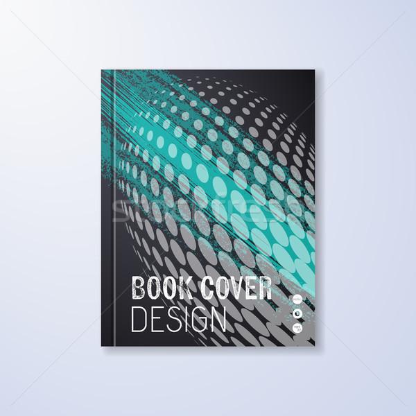 Absztrakt könyv design sablon halftone hatás papír Stock fotó © blumer1979
