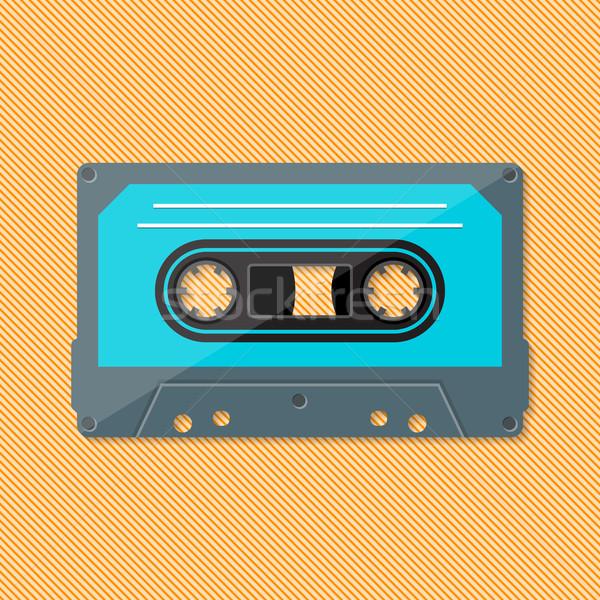 Retro muzyki zwarty kaseta kolorowy film Zdjęcia stock © blumer1979