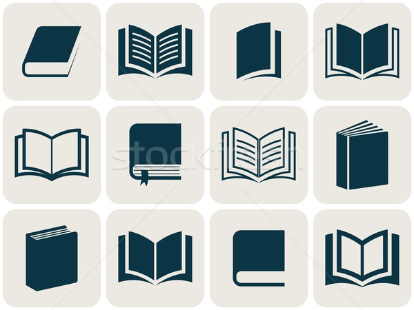 Book icons collection Stock photo © blumer1979