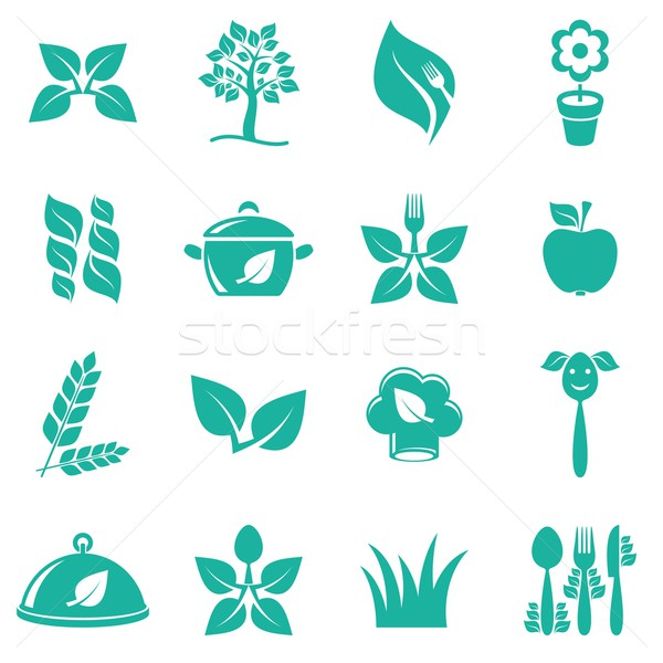精進料理 アイコン 緑 ベクトル 白 食品 ストックフォト © blumer1979