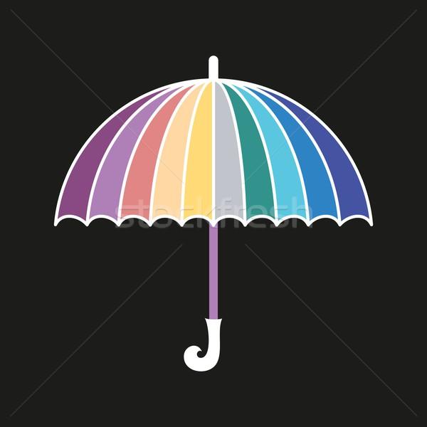 Esernyő absztrakt vektor szivárvány színes fekete Stock fotó © blumer1979