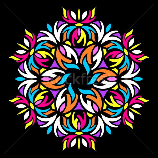 Kolorowy geometryczny streszczenie mandala papieru moda Zdjęcia stock © blumer1979