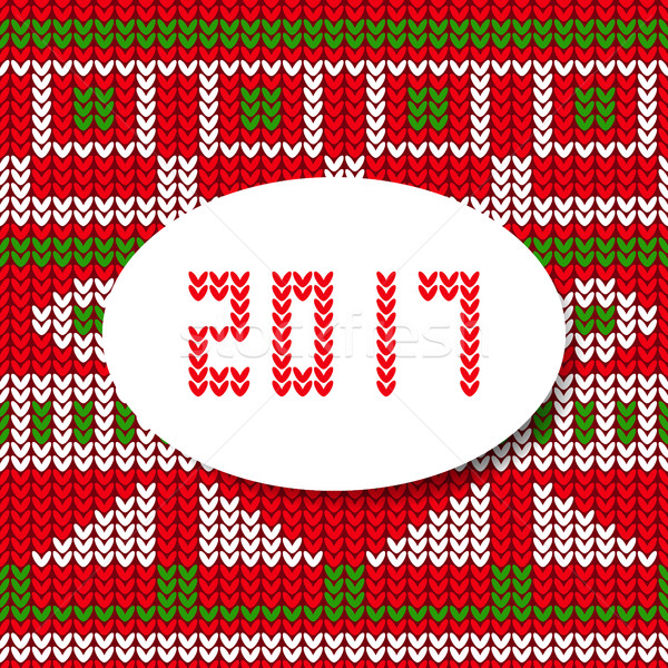 New year card 2017 sweater pattern Stock photo © blumer1979