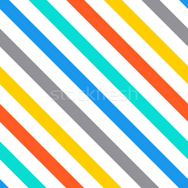 Vector diagonal stripes seamless pattern Stock photo © blumer1979