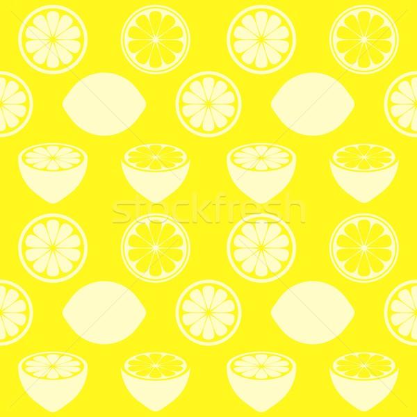 Sin costura vector amarillo patrón Foto stock © blumer1979