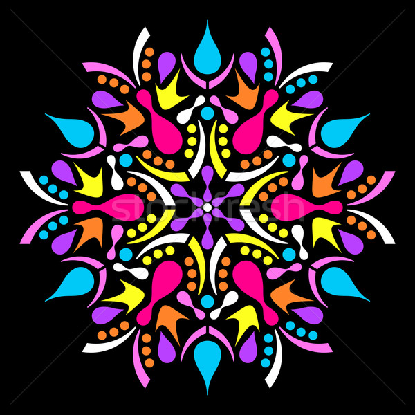 Colorful vector geometric abstract mandala Stock photo © blumer1979