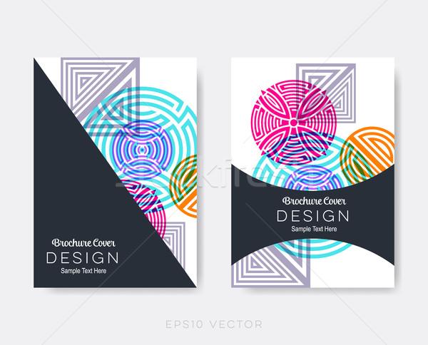 Creative modernes brochure design modèles Photo stock © blumer1979