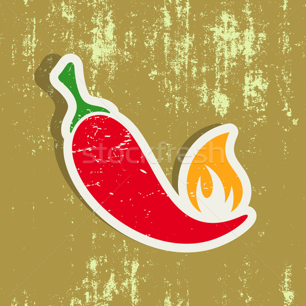 Chilli pepper label Stock photo © blumer1979