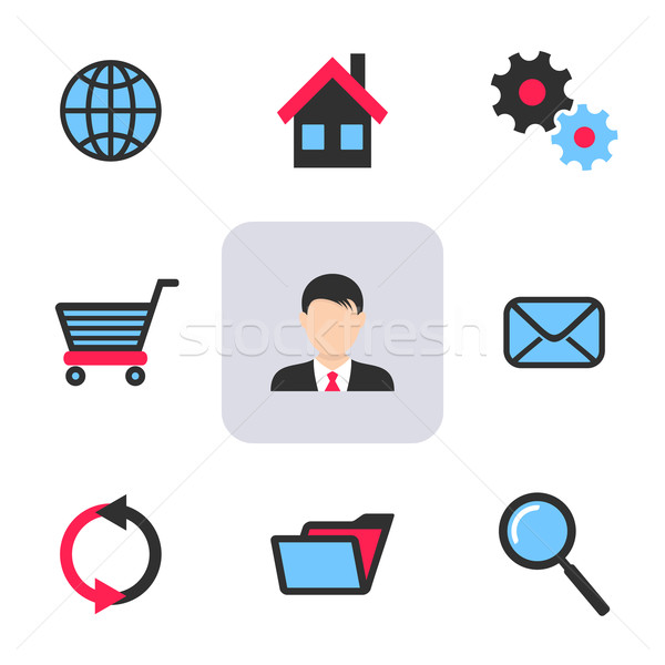 Office and web icons Stock photo © blumer1979