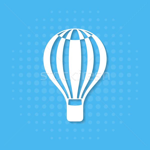 воздушном шаре икона полутоновой эффект дизайна фон Сток-фото © blumer1979