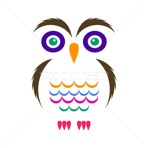 Simple owl icon Stock photo © blumer1979
