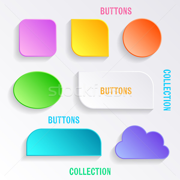 Vector buttons with shadows Stock photo © blumer1979