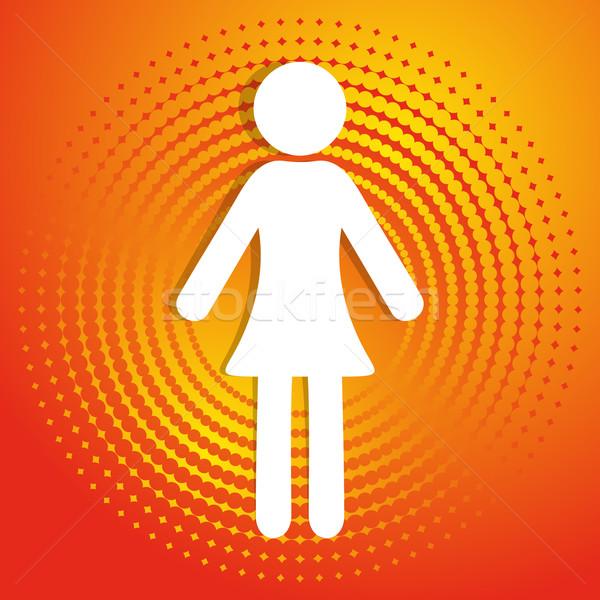 Woman icon Stock photo © blumer1979