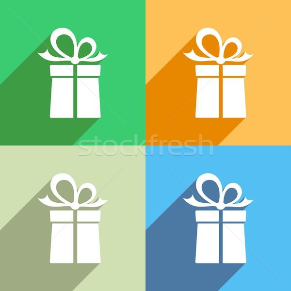 Stock photo: Gift box icons