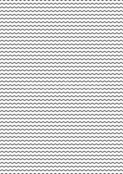 Proste bezszwowy falisty line wzór czarny Zdjęcia stock © blumer1979
