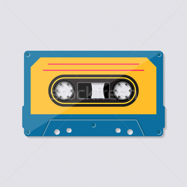 Retro music cassette tape icon Stock photo © blumer1979