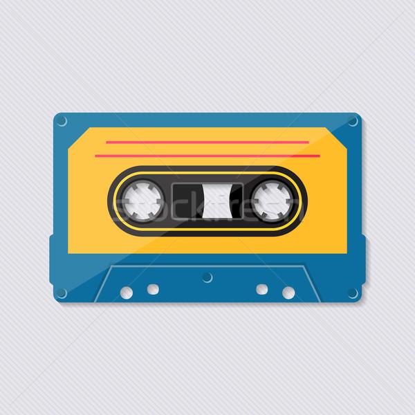 Retro musica cassette nastro icona colorato Foto d'archivio © blumer1979