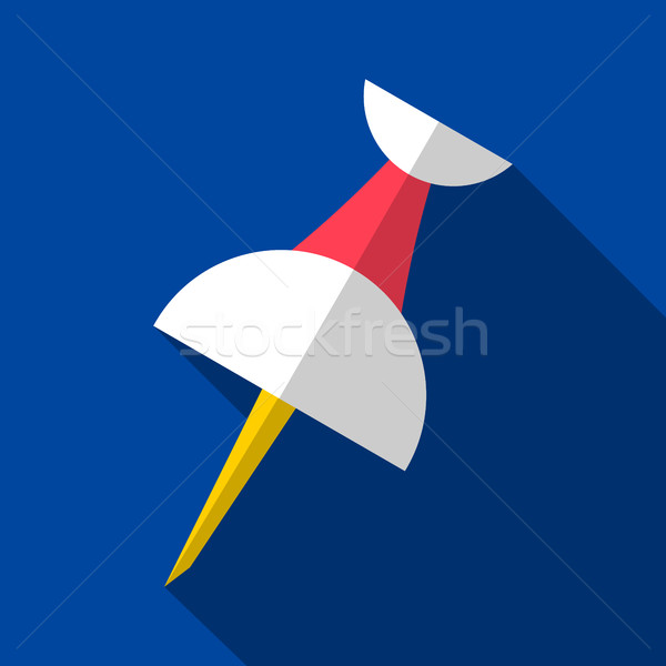 Vector push pin origami flat icon Stock photo © blumer1979