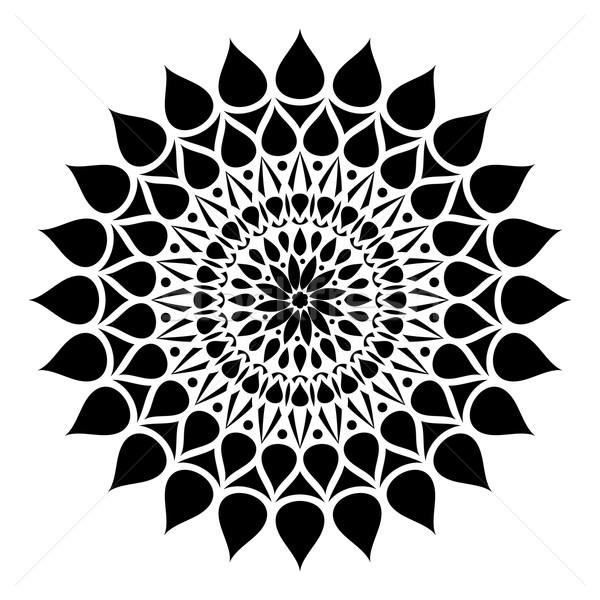 Stock photo: Geometric round ornament