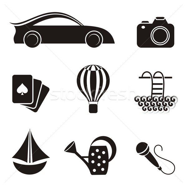 Hobby and leisure icons Stock photo © blumer1979