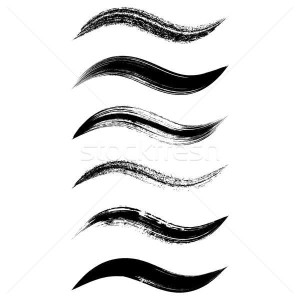 Vector black brush strokes Stock photo © blumer1979