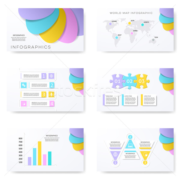 Infographic template for presentation slides Stock photo © blumer1979
