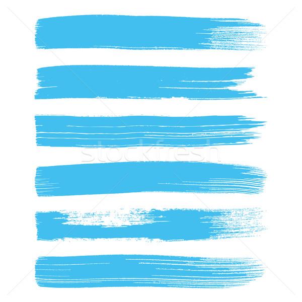 Blauw vector kunst collectie geïsoleerd Stockfoto © blumer1979