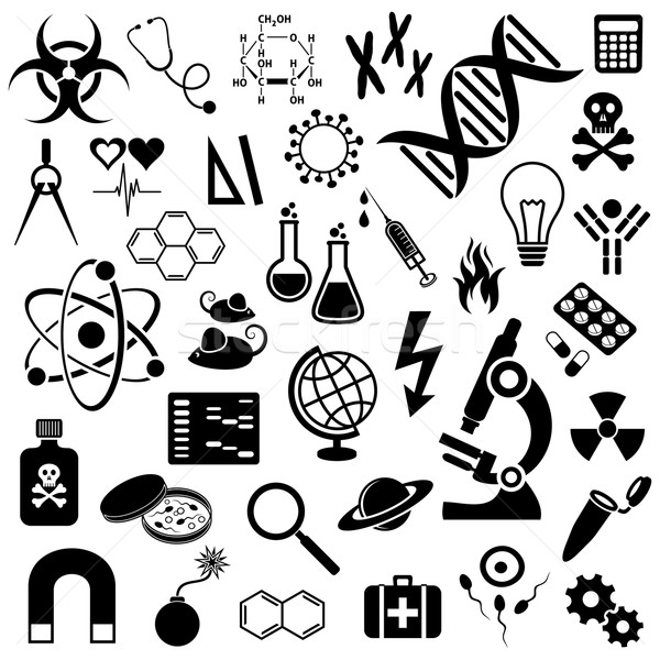 Science icons collection Stock photo © blumer1979