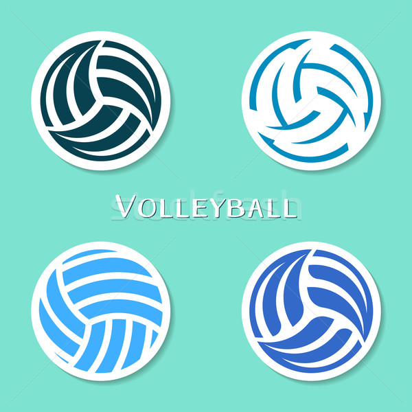 Voleibol bola conjunto quatro vetor Foto stock © blumer1979