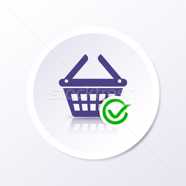 Vector shopping basket icon add item Stock photo © blumer1979