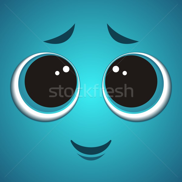 Cartoon monster face Stock photo © blumer1979