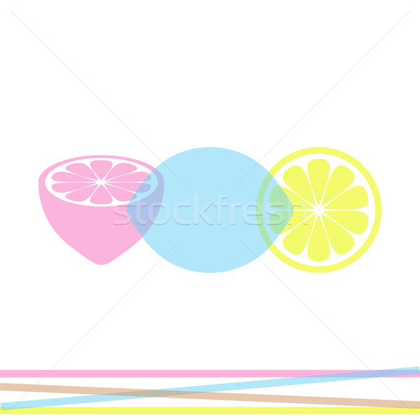 Colorido resumen diseno tres limón Foto stock © blumer1979