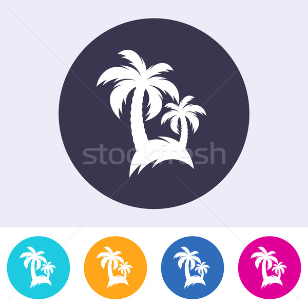 Vector palm tree icon Stock photo © blumer1979