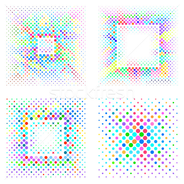 Vector mosaic square halftone backgrounds Stock photo © blumer1979