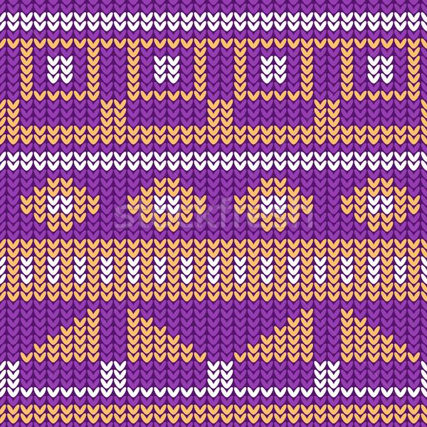 örgü model Noel kazak dizayn Stok fotoğraf © blumer1979