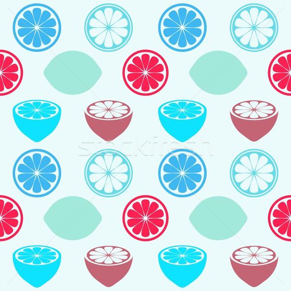 Citrons vecteur rétro coloré Photo stock © blumer1979