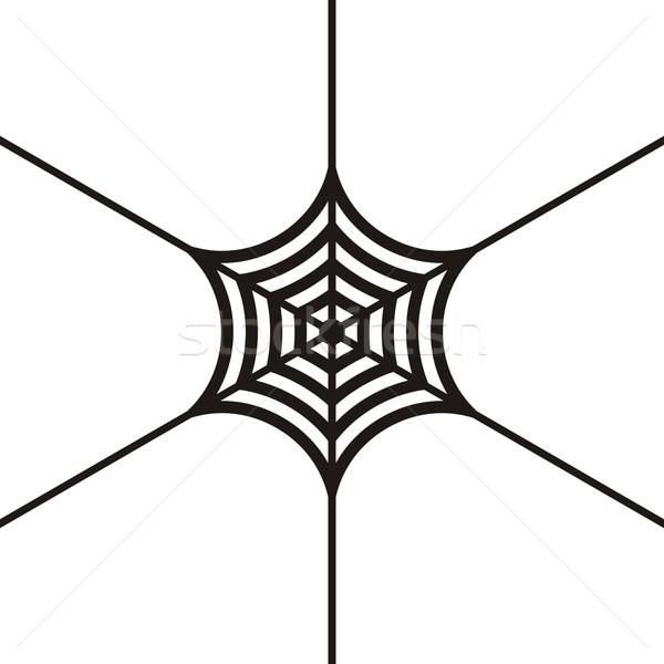 Spinnennetz schwarz Vektor Symbol weiß Netzwerk Stock foto © blumer1979