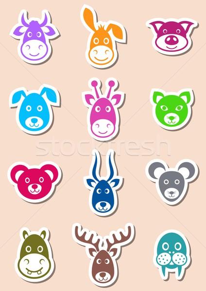 Animal labels Stock photo © blumer1979
