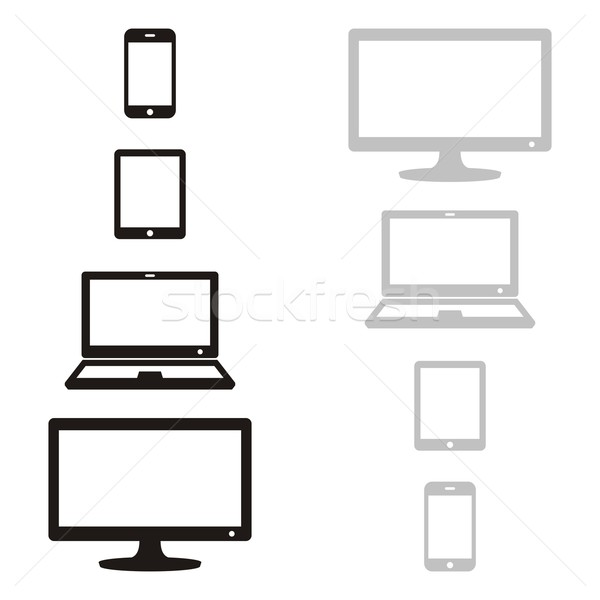 Digital device icons Stock photo © blumer1979