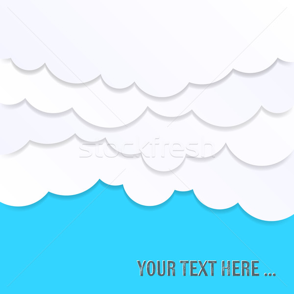 Resumen tarjeta nubes cielo simple blanco Foto stock © blumer1979
