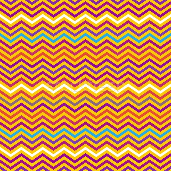 Zikzak renkli vektör geometrik etnik Stok fotoğraf © blumer1979